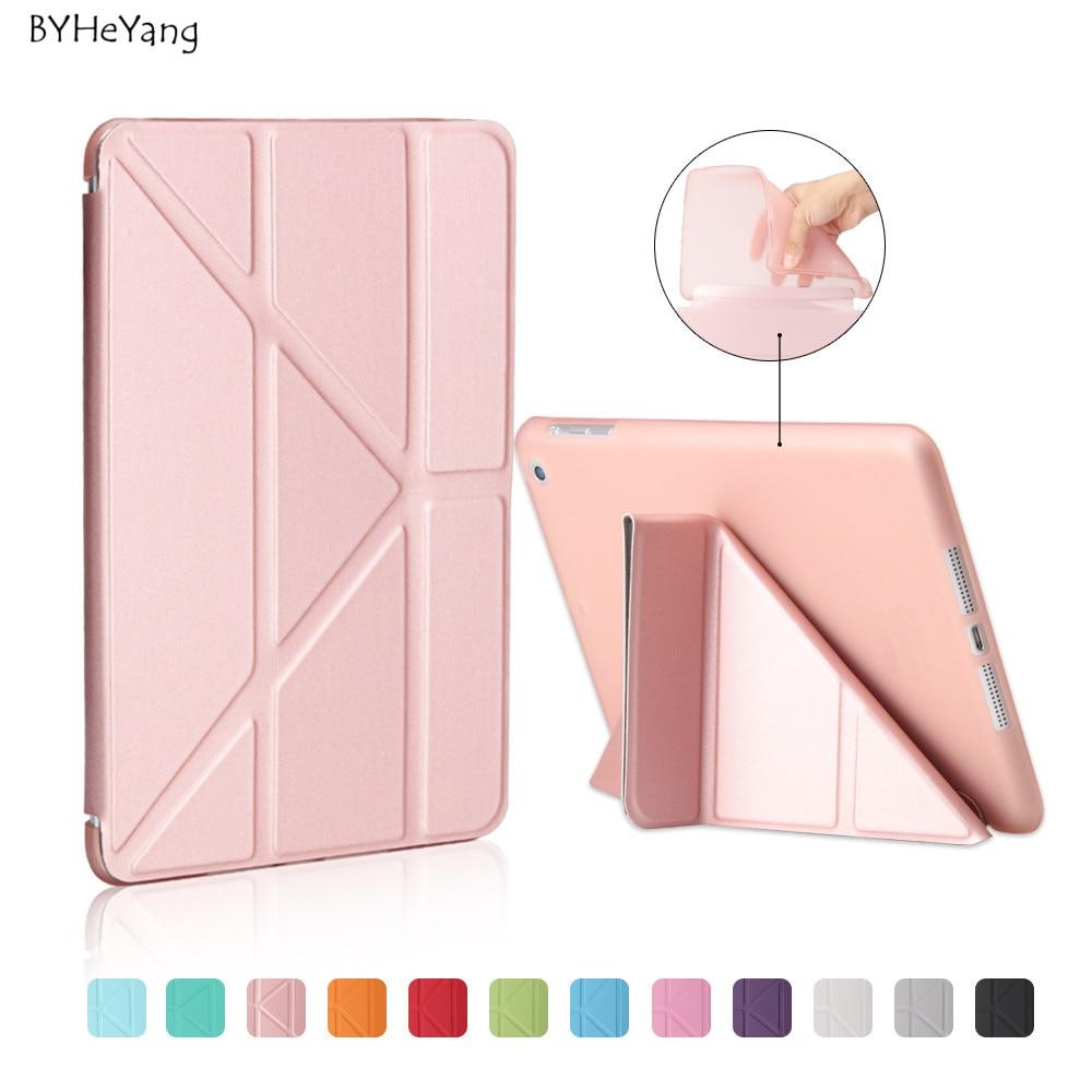 BYHeYang Für Ipad MINI 1 2 3 Retina Smart Tpu Fall Pu-leder Flip Stand Magnetic Wachen Schlaf Für iPad Mini 2/3 weichen zurück Fall