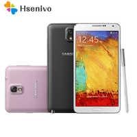 100% Original Samsung Galaxy nota 3 N900 N9005 teléfono móvil Quad Core 5,5 8MP 3G WIFI GPS nota 3 teléfono celular reacondicionado