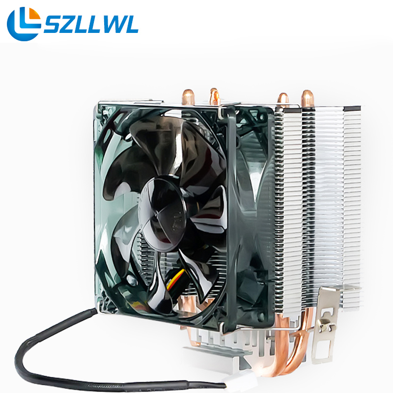 AMD/Intel universally Practical CPU Cooling Fan HeatSink HeatPipe dc 12v fan for PC Computer Desktop cpu fans cooler 55mm aluminum cooling fan heatsink cooler for pc computer cpu vga video card bronze em88