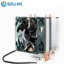 AMD/Intel universally Practical CPU Cooling Fan HeatSink HeatPipe dc 12v fan for PC Computer Desktop cpu fans cooler