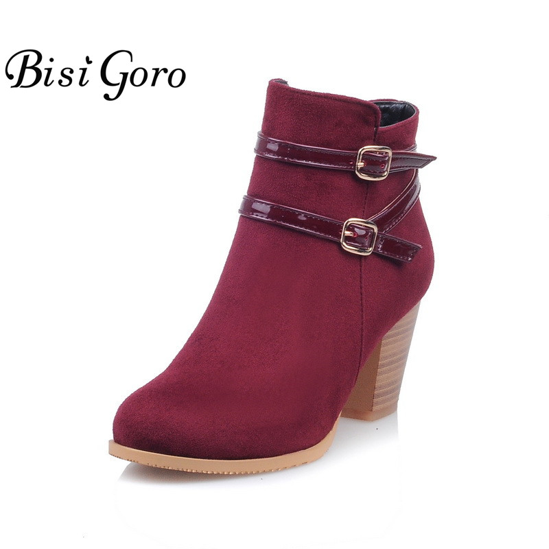 BISI GORO Fashion Women Boots High Heels Black Blue Boots Female Thick Heel Short Martin Boots for Women Shoes Sexy Ankle Boots иваницкая и яковлев а введение в экономику недвижимости