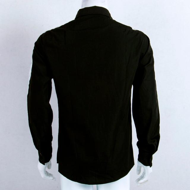 Long Sleeve Button Down Strip Shirt 5