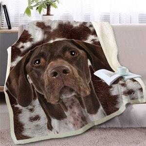 Image 2 - BlessLiving French Bulldog Sherpa Blanket on Bed Animal Dog Throw Blanket for Adult Brown Gray Bedding mantas para cama 150x200