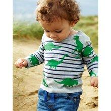 New Hot Boys T-shirt Kids Boys Tee Spring Autumn T shirts Children Long Sleeve 100% Cotton Cars Trucks Stripes Baby Boy Clothes