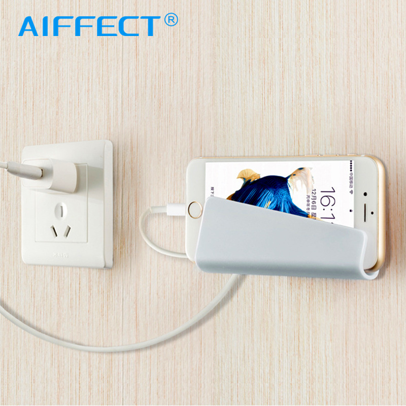 AIFFECT Mobile Phone Holder Wall Charging Stand with 3M Adhesive for iPhone Samsung Galaxy S9 Universal Tablet Mount Holder in Phone Holders Stands from Cellphones Telecommunications