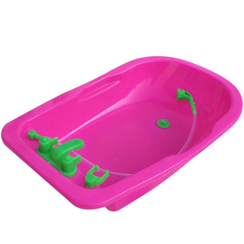 18*11*3.5cm 1pc Cute Fashion Furniture Accessories Baby Toy Play House Toys Bath Tub For Accessories