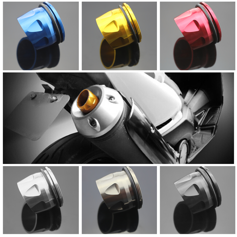 6 color Motorcycle accessories CNC Aluminum Exhaust Tip Cover For Yamaha T-max 530 T MAX TMAX 530 2012-2015 tmax 500 tmax500 hot sale motorcycle t max cnc aluminum
