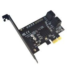 Сверхскорости Компоненты долговечный конвертер адаптер PCI Express SATA3.0 4 Порты и разъёмы компьютер Добавить на стойку 6 г расширения карта ПК