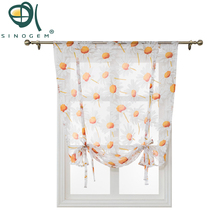 Sunflower Kitchen short sheer curtains burnout roman blinds panel tulle window treatment door gauze voile curtain