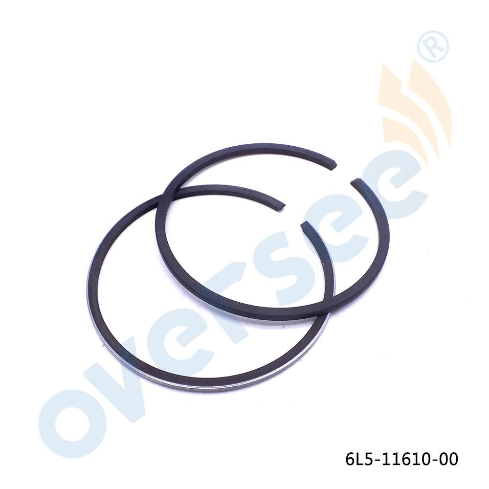 6L5-11610-00-00 Piston Ring Set (STD) Para 3HP 3A Yamaha Motores De Popa Barco a Motor Powertec new peças de reposição 6L5-11610