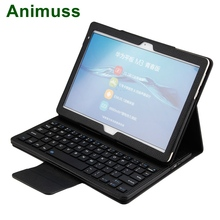 Animuss Wireless Tablet Case Cover Bluetooth Keyboard For Huawei Mediapad M3 Lite 10.1 Inch