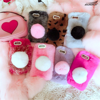 Soft Smooth Warm Rabbit Fur DIY Diamond Phone Cover Handmade Back Case Shell For Xiaomi 5