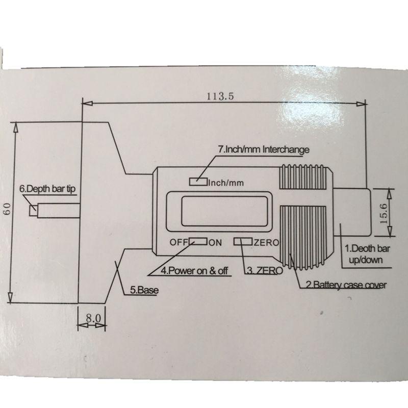 0,01 mAutomobilio padangos skaitmeninis protektoriaus gylio matuoklis - Matavimo prietaisai - Nuotrauka 6