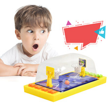 Double play button ejaculation basketball  Table Games Portable baby desktop puzzle toy table basketball kids toy Education toys