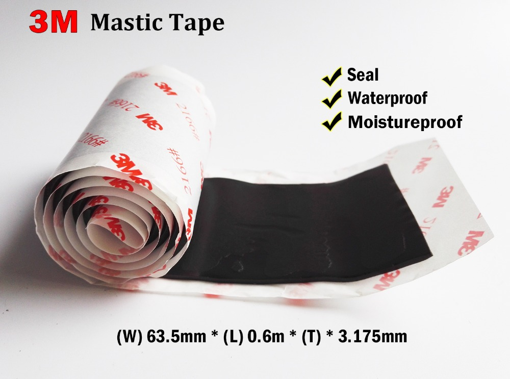 3M 2166# Strong Mastic Tape for Electrical Telcommunication Device Waterproof, Seal, Cable Jacket, Piple, Car Door Sealing кремы mastic spa крем для тела с маслом какао и вином cocoa butter cream mastic
