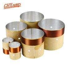 GHXAMP спикер, басовая звуковая катушка, 4 дюйма, 6,5 дюйма, 10 дюймов, 18 дюймов, сабвуфер, динамик, ремонт, 8 Ом, белый алюминий, звук, воздуховод, 2 шт