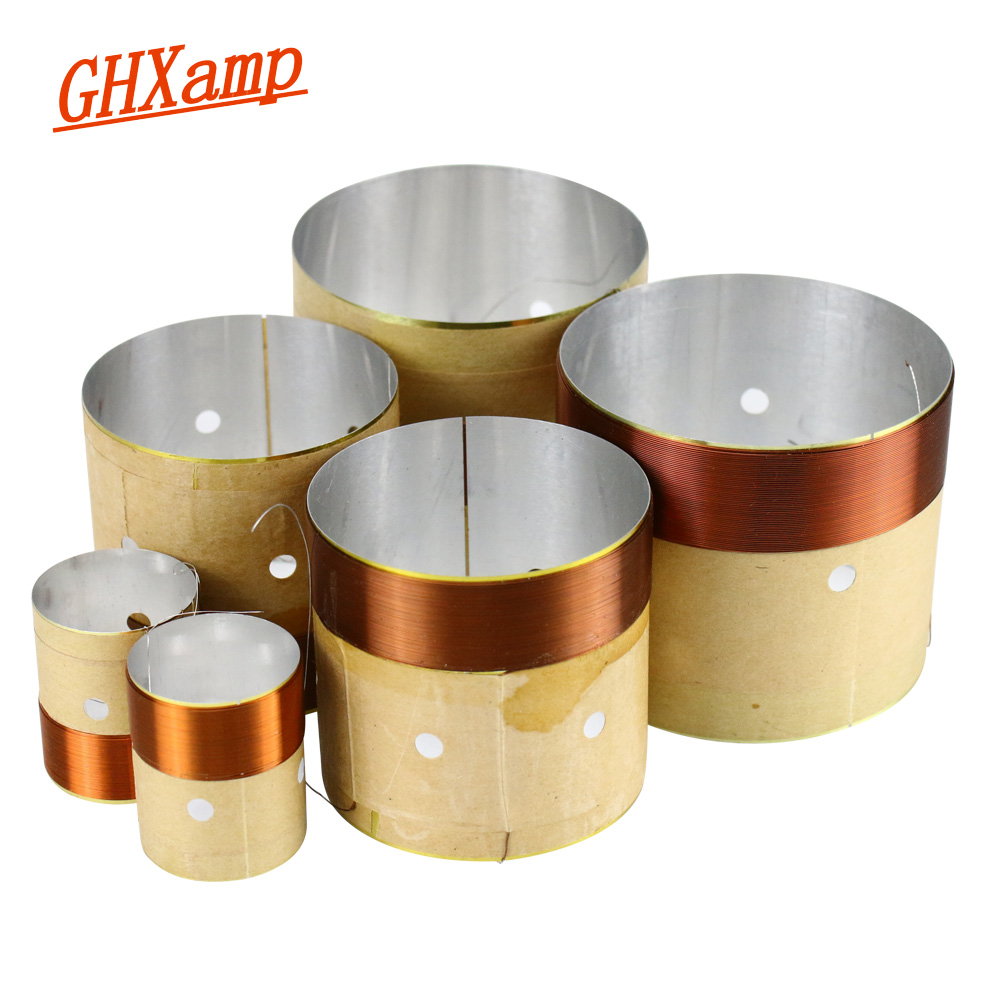 GHXAMP Speaker BASS Voice Coil 4inch 6.5 INCH 10 INCH 18 Inch Subwoofer Speaker Repair 8OHM White Aluminum Sound Air Outlet 2PCS compatible projector lamp for benq 9e 08001 001 mp511