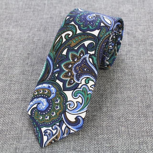 Corbatas ajustadas para hombre de algodón