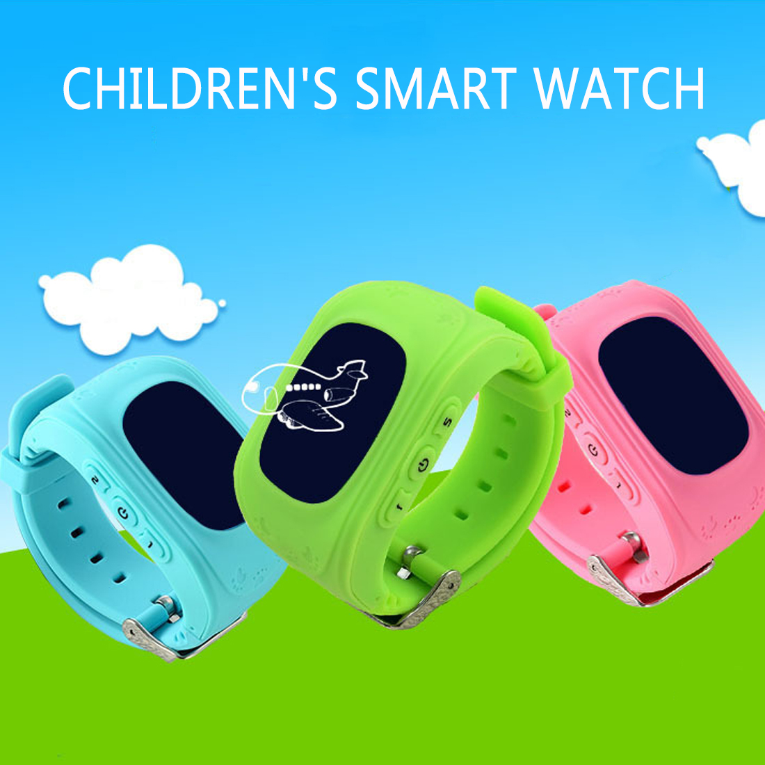 Hot Anti Perdido Q50 OLED SOS Criança Bebê Telefone de Monitoramento de Posicionamento Inteligente Relógio IOS Compatível & Android
