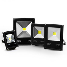 LED Flood Light 10W 20W 30W 50W 100W Floodlight COB LED Spotlight Outdoor Lighting Projector Reflector Garden Squarer Wall Lamp