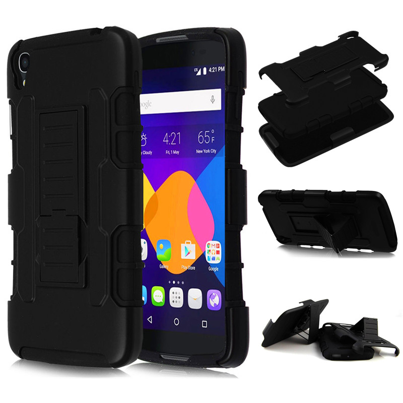 Hybrid Shockproof Armor Hard Cover For Alcatel One Touch Idol 4 6055