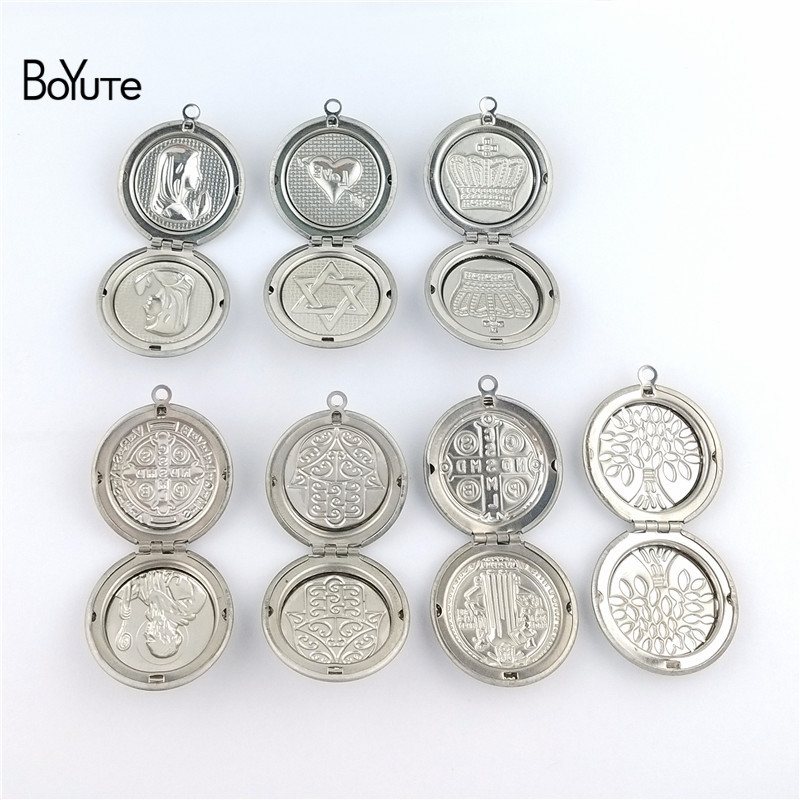 BoYuTe New Arrive Stainless Steel Jewelry Pendant Round 31MM Memory Locket Photo Locket Pendant (5)