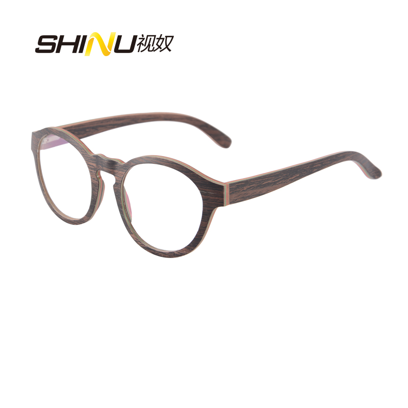 Aliexpress.com : Buy Wooden Glasses Retro Vintage Round Optical ...