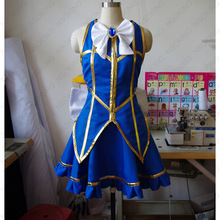 Fairy Tail Lucy New Cosplay Blue Gold Costume for Men & Women