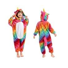 Купить с кэшбэком Flannel Children Sleepwear Baby Pegasus Cosplay Onesies New Kids Pajamas For Boys Girls Animal Scale Pegasus Unicorn Pajamas