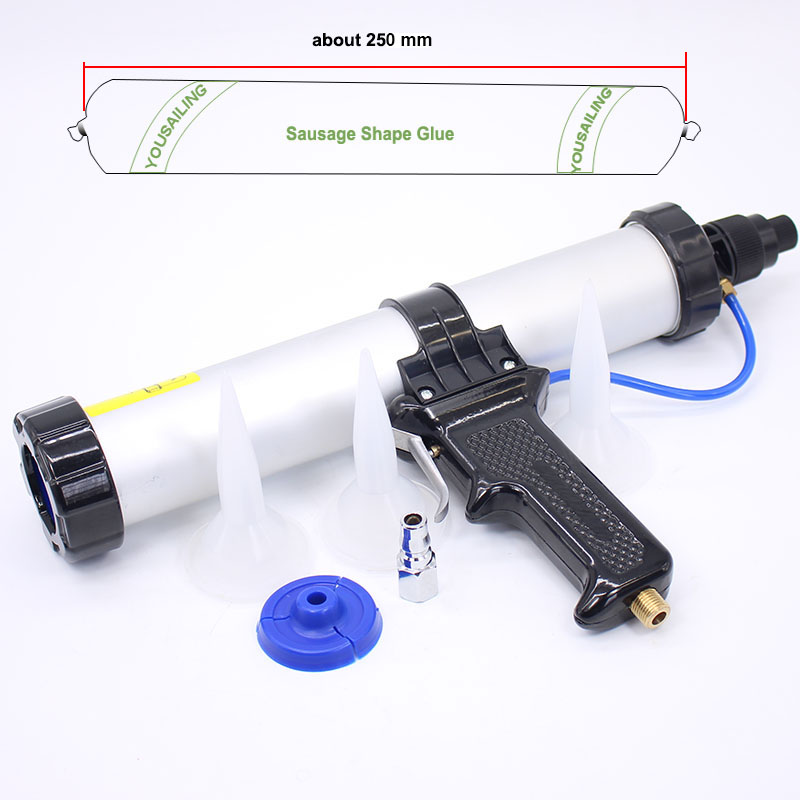 YOUSAILING Good Quality 400ml Sausage Pneumatic Caulking Gun Glass Glue Gun Air Rubber Gun Caulk Applicator ToolYOUSAILING Good Quality 400ml Sausage Pneumatic Caulking Gun Glass Glue Gun Air Rubber Gun Caulk Applicator Tool
