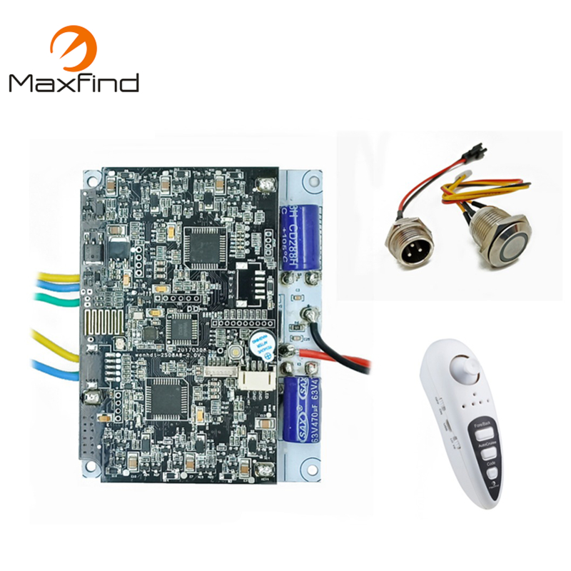 Maxfind Poweful 1000W DIY Single&Dual Motor Drive Motherboard with Remote and DIY Drive Motor Kit for Electric Longboard gzlozone diy kit njw1194 remote volume conrol kit treble