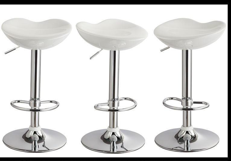 North American Country Bar Stool white color ABS material seat lift and rotation stool free shipping north american fashion bar stool living room dining plastic stool retail and wholesale white black orange color free shipping
