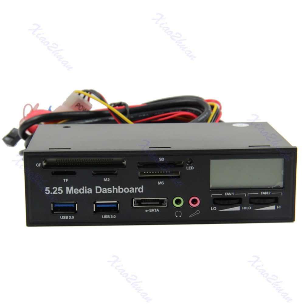 USB 3,0 Все-в-1 5,25 Muiti-функция медиа панель передней панели