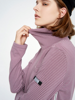 Toyouth Striped Turtle Neck T Shirts Long Sleeve T Shirt For Women Casual Korean Ladies Tees Autumn 2018 Tops Slim Tee Shirts