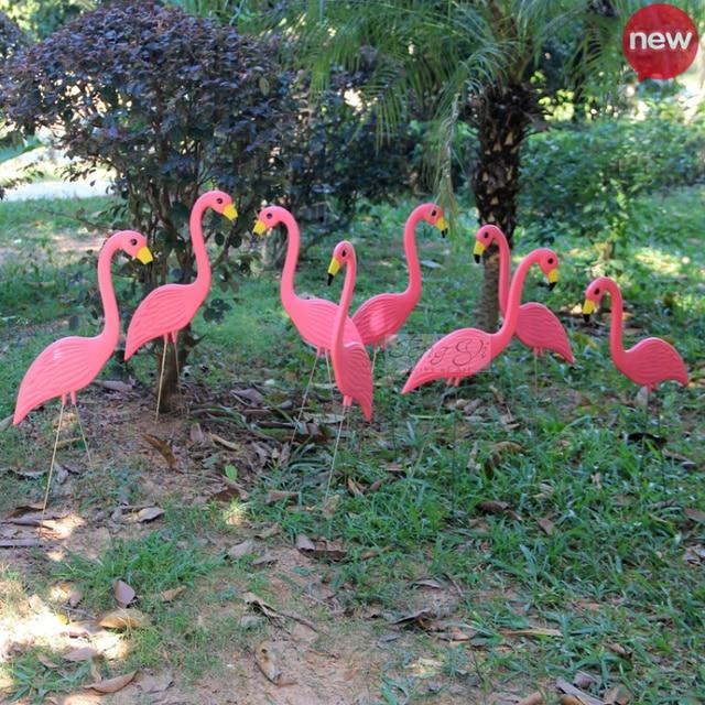 6 pices de flamant rose en plastique de mariage dcor de jardin dcoratif artisanat articles de