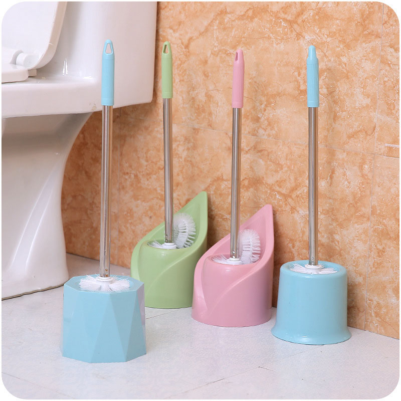 Creative Fashion Simple Bathroom Cleaning Supplies Stainless Steel Thickening with Toilet Seat Toilet Clean Toilet Brush Sets