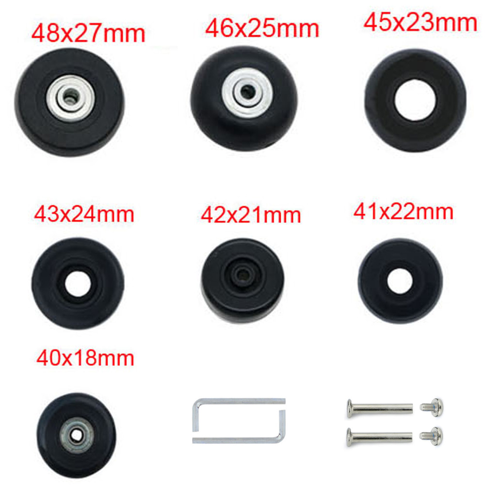 360 Degree Swivel Back Mute Repair Replacement Luggage Wheel Suitcase Wheels Parts Spinner Set of a Pair DiLong W039# XiaoShiJie