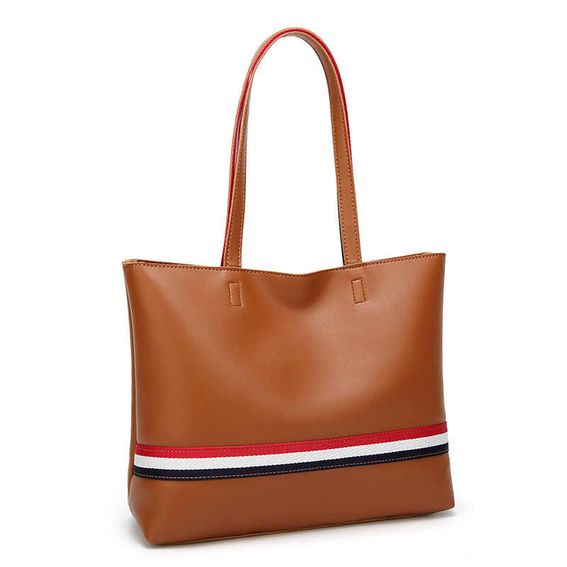 249ab20eeef Tagdot Large Leather Tote bag Fashion Shopping Zipper Tote bags for Women  Handbag Shoulder bag black red brown white 2018