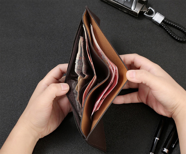 PU Leather Male Wallets Purse Gift High Quality 4