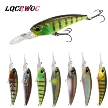 Купить с кэшбэком NEW Minnow 6cm 6g diving For fishing lure bass wobblers pesca hard baits isca artificial Trout bait crankbait pike lures mini