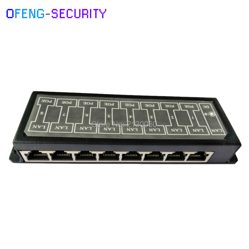 Poe Injector Passive POE Injector  PoE Power Supply Mini 8 Ports Passive POE DC RJ-45 Injector For IP Camera LAN Network