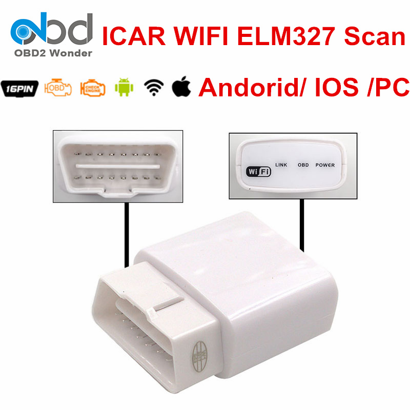 2019 Neuestes Design Weiß Icar Elm327 Wi Fi V1.5 Auto Diagnose Scanner Ulme 327 Wi-fi Obd Scan Tool Für Android Pc Windows Unterstützung Multi-sprache GroßEs Sortiment