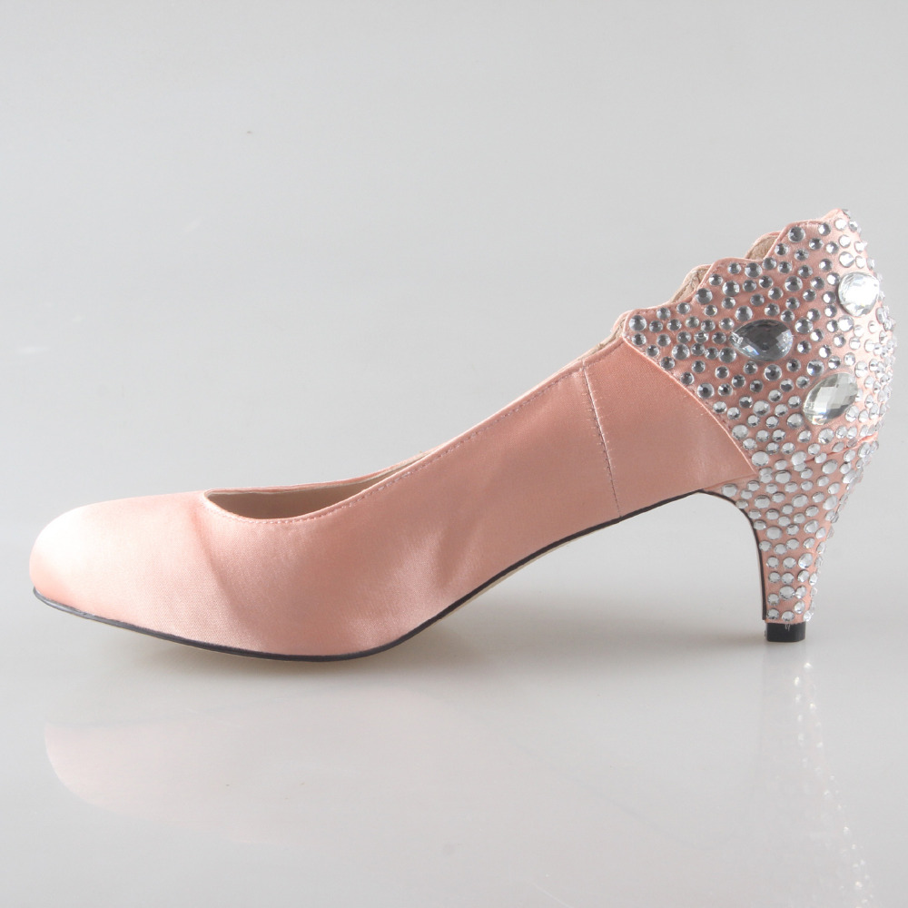 Buy light pink satin heels and get free shipping on AliExpress.com 96b2b5e71435