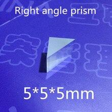 2 шт. 5x5x5 мм, 5*5*5 мм правый угол K9 треугольная призма линза