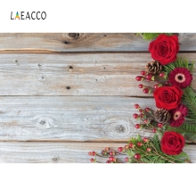 Laeacco Flowers Wooden Board Backdrop Portrait Photography Background Customized Photographic Backdrops Props For Photo Studio