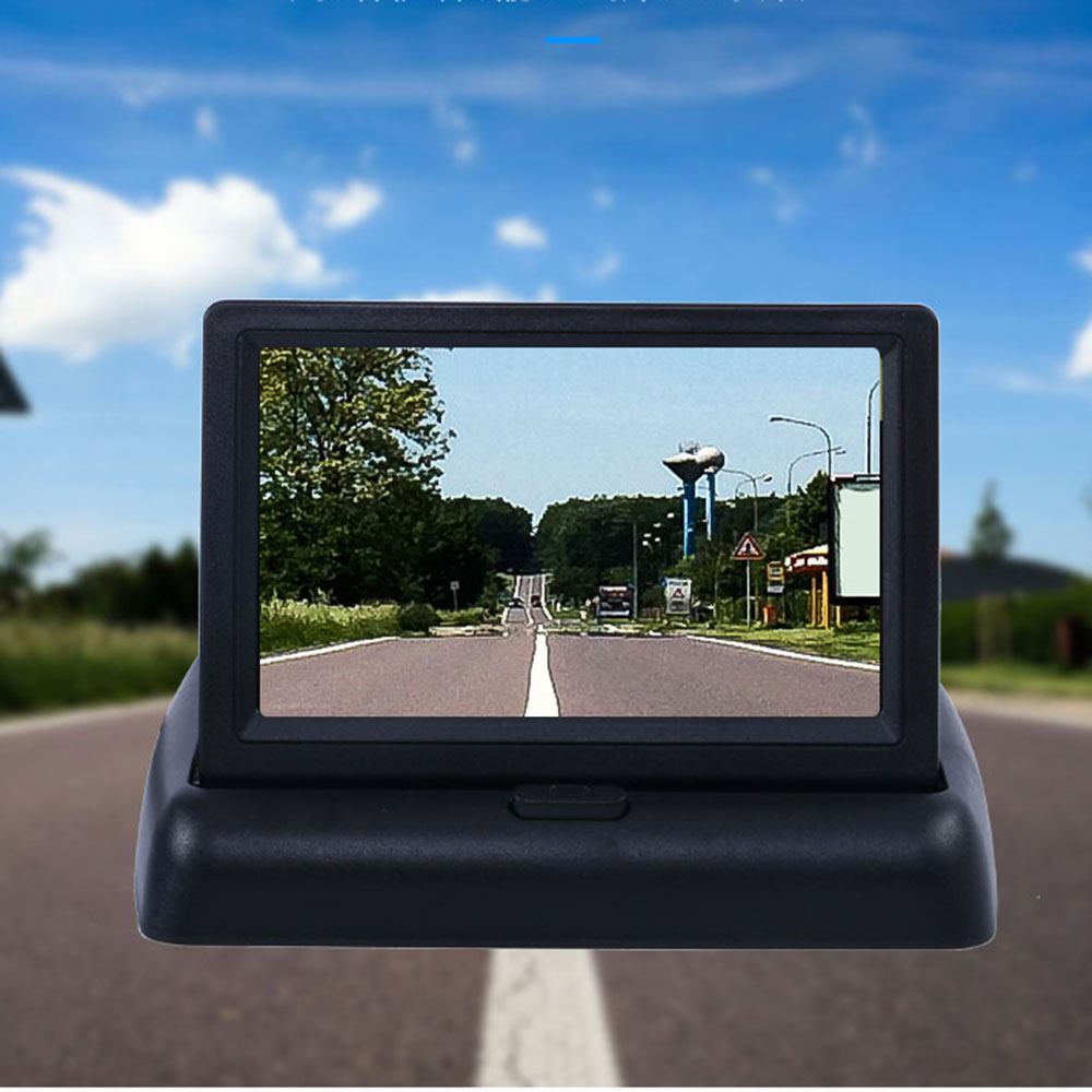 Parkplatz Moniteur Voiture Auto Monitor LED Nachtsicht Auto CCD Rückansicht Kamera Mit 4,3 zoll Auto Video Faltbare Monitor kamera