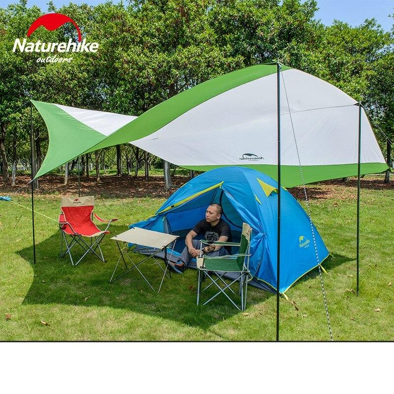 Naturehike Hexagon Sun Shelter With Poles UV 40 Beach Tent Shade Tarp Pergola Camping Sunshade Gazebo Waterproof Awning Canopy In From Sports