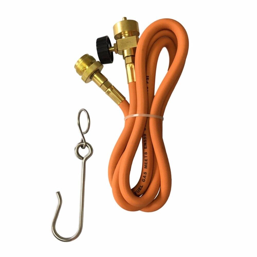 Gaz Brasage Torche De Soudage Tuyau CGA600 1.5 m (5ft) Tuyau et Ceinture Crochet pour MAPP Torche Extension Kit