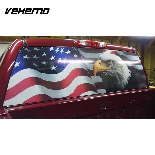 American Flag Eagle Sticker Decal Rear Windshield Decor Car Suv