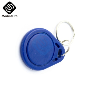 10PCS Blue RFID Sensor Proximity IC Key Tags Keyfobs Token NFC TAG Keychain 13.56MHz For Arduino for Access Control Attendance